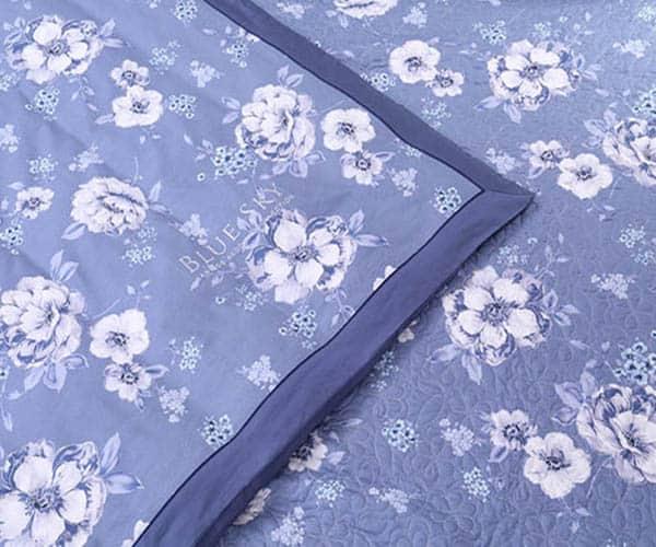 Bộ Chăn Ga Gối Blue Sky Cotton T-DL145 1