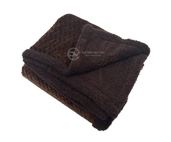 chăn lông cừu sóng Muji 4