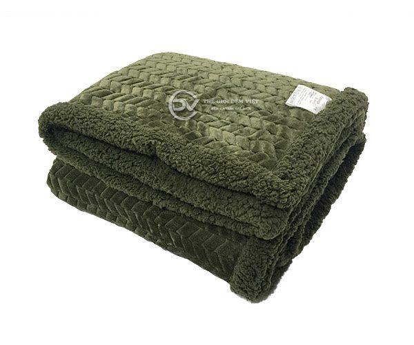 chăn lông cừu sóng Muji 7
