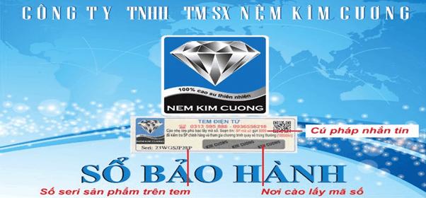 Sổ bảo hành đệm cao su Kim Cương