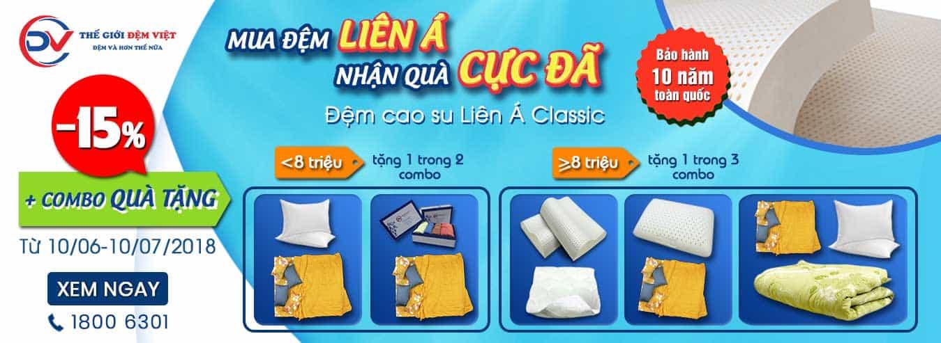 Banner CTKM đệm Liên á Classic