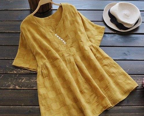 Vải lanh được dùng may áo váy rất phổ biến
