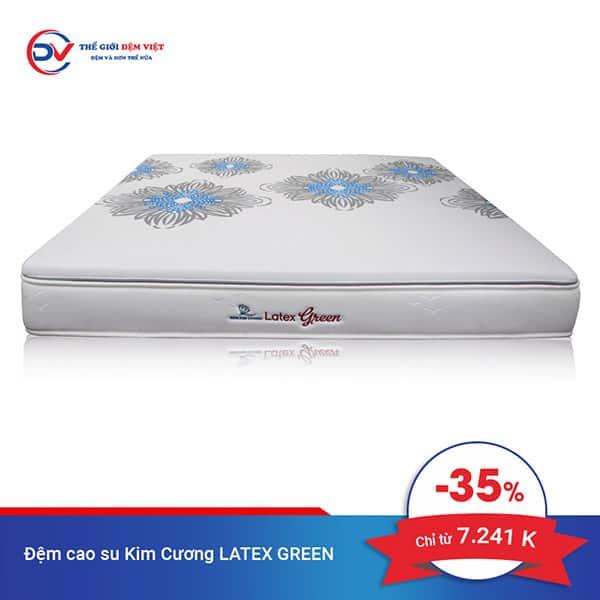 Khuyến mại đệm cao su Kim Cương Latex Green