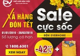Xả Hàng Đón Tết – Sale Cực Sốc Đệm Everhome