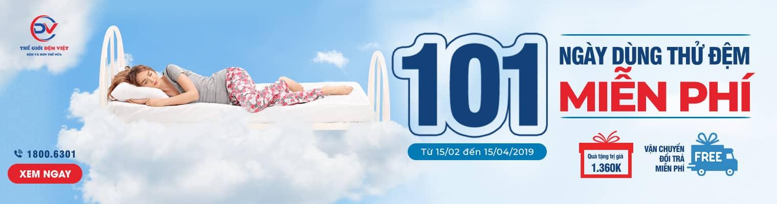 101 Ngày dùng thử đệm miễn phí