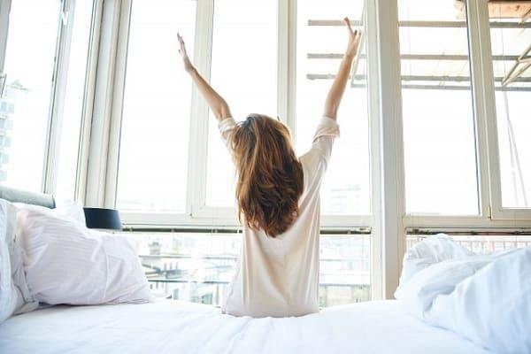 Giấc ngủ ngon với tinh thần sảng khoái