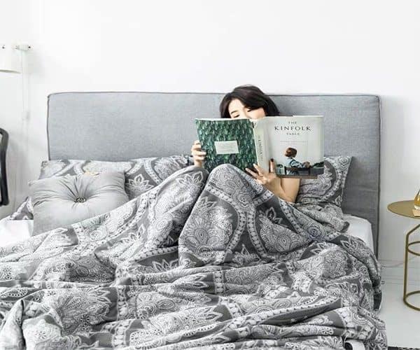 chăn hè tencel thiết kế hiện đại
